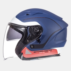 ATVIRAS ŠALMAS MT HELMETS AVENUE CROSSROAD MATT BLUE/WHITE/RED