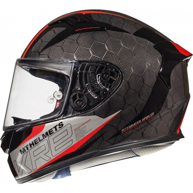 ŠALMAS MT HELMETS KRE SNAKE CARBON 2.0 A5 GLOSS RED