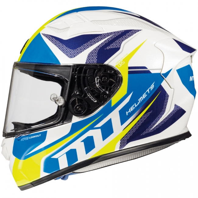ŠALMAS MT HELMETS KRE LOCKOUT GLOSS FLUOR WHITE