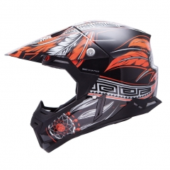 KROSINIS ŠALMAS MT HELMETS SYNCHRONY NATIVE BLACK/ORANGE