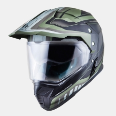 KROSINIS ŠALMAS MT HELMETS SYNCHRONY DUO TOURER MATT GREEN MILITARY