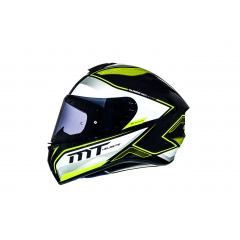 ŠALMAS MT HELMETS TARGO INTERACT A4 GLOSS PEARL FLUOR YELLOW