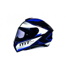 ŠALMAS MT HELMETS TARGO INTERACT A6 GLOSS PEARL BLUE