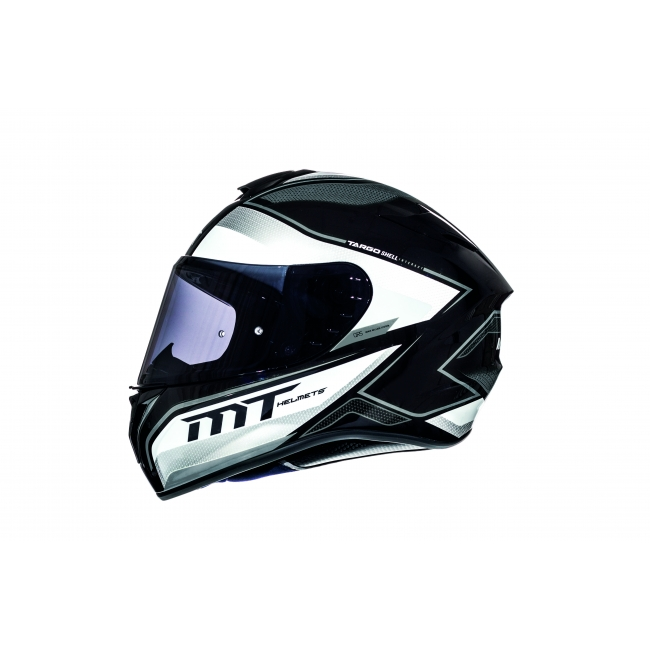 ŠALMAS MT HELMETS TARGO INTERACT A8 GLOSS PEARL GREY