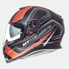 ŠALMAS MT HELMETS THUNDER 3 SV TRACE MATT BLACK/FLUOR ORANGE