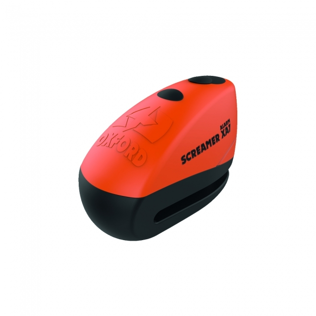 MOTOCIKLO UŽRAKTAS OXFORD SCREAMER XA7 DISC LOCK ORANGE