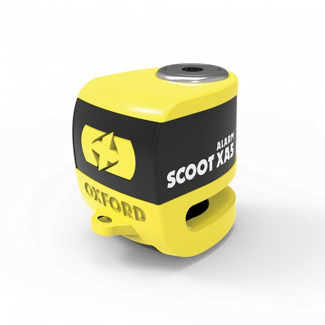MOTOROLERIO UŽRAKTAS OXFORD SCOOT XA5 ALARM DISC LOCK GELTONAS