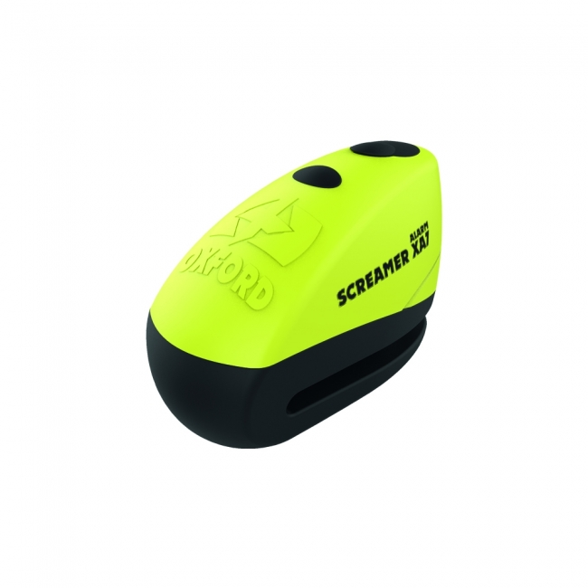 MOTOCIKLO UŽRAKTAS OXFORD SCREAMER XA7 DISC LOCK YELLOW