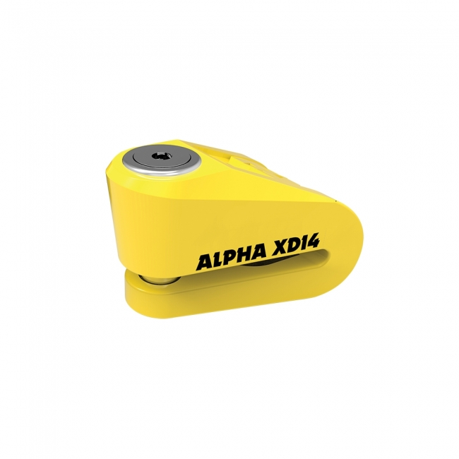 MOTOCIKLO UŽRAKTAS OXFORD ALPHA XD14  DISC LOCK Yellow