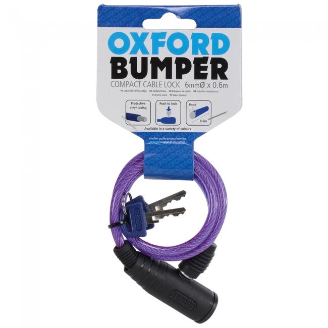 MOTOCIKLO UŽRAKTAS OXFORD Bumper cable lock Purple