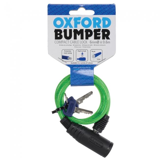 MOTOCIKLO UŽRAKTAS OXFORD Bumper cable lock Green