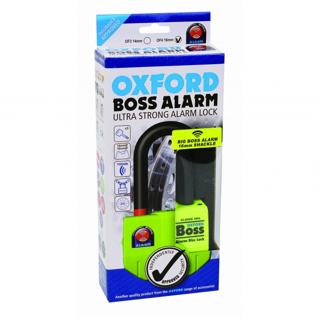 MOTOCIKLO UŽRAKTAS OXFORD BIG BOSS ALARM 16MM