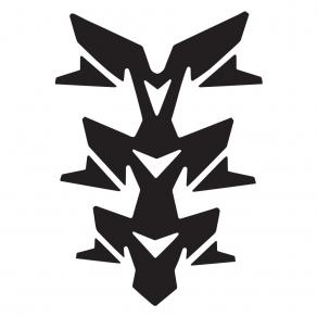 KURO BAKO LIPDUKAS OXFORD Gel Spine Invader - Black