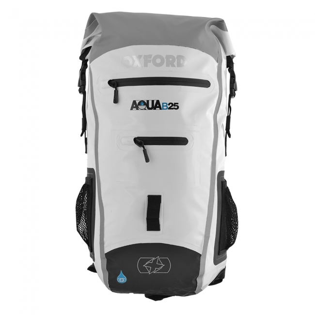 OXFORD KUPRINĖ AQUA B-25 BACKPACK - BALTA/PILKA