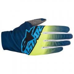 MX PIRŠTINĖS Alpinestars Dune Design Two: Dark Blue/Yellow Fluo/Cyan
