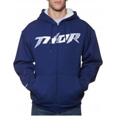Džemperis THOR PINNED WAFFLE NAVY/WHITE ZIP-UP