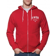 Džemperis THOR SHOP RED-WHITE ZIP-UP
